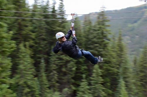 Ziplining in Breckenridge. CO