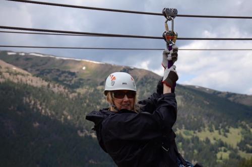Ziplining in Breckenridge, CO
